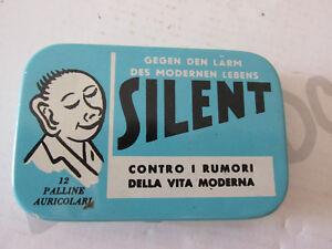 SILENT Tappi per orecchie antirumore VINTAGE scatola latta molto carina
