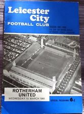 Leicester City v Rotherham United, 13 March 1968. FA Cup 5th Round Replay
