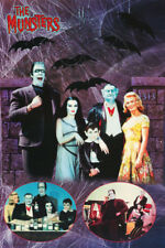 LOT OF 2 POSTERS :TV: MUNSTERS - FAMILY COLLAGE -   FREE SHIP   #3207    LP59 O