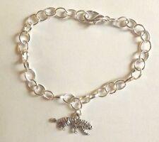 bracelet argenté 20 cm tigre