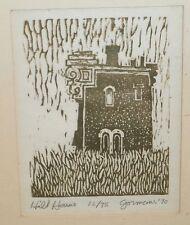Hill House Woodcut- 16/75-1970-William Gorman- Listed N.J.
