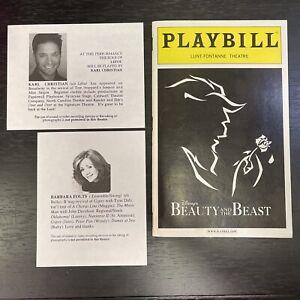BEAUTY & THE BEAST Sept 2005 Disney On Broadway Playbill & Understudy Slips!