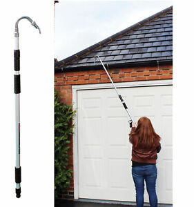Large Telescopic Extendable Gutter Cleaner Pole Pipe Water Drain Roof Hose 185cm
