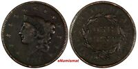 US Copper 1837 Coronet Head Large Cent 1C (17 080)