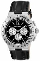 BVLGARI Automatic Diagono Tachimetric Black Dial Men's Watch DG41BSLDCHTA