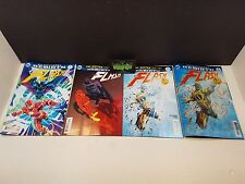 Flash #21 Lenticular +Reg and 2 Variant Covers NM Button Batman Rebirth DC Comic