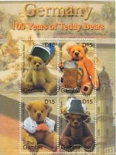 """The Gambia - Teddy Bears """"Germany"""" Stamps - Sheet of 4 Stamps MNH"""