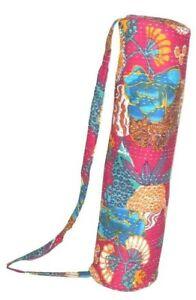 Indien Kantha Sac Déguisement Handmade Yoga 100% Coton Mandala Tapis Carry Gym