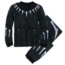 Boy BLACK PANTHER Costume PJ Pals Pajamas Sleep Set Child Medium 7 Disney Store
