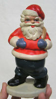 """Vintage Christmas Germany Composition Santa Claus Candy Container 1950s 7 1/4"""" T"""