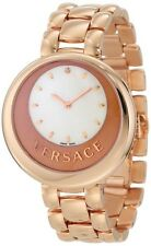 Versace Womens 87Q80D498 S111 Perpetuelle Sunray Dial DIAMOND LEATHER BAND Watch