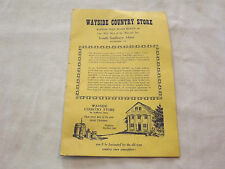 Vintage Wayside Country Store South Sudbury Mass Advertising Brochure