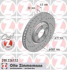 Disque de frein avant ZIMMERMANN PERCE 290.2261.52 JAGUAR S-TYPE CCX 4.0 V8 276c