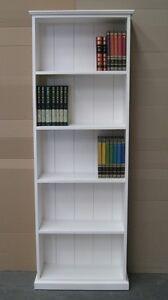 6Fx2F Solid Pine Bookcase in White