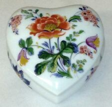 New Vintage Lec Limoges France Floral Heart Jewelry / Trinket Box_Free Shipping