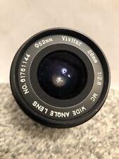 Vivitar Wide Angle Lens 28 Mm 1:2.8 No.61761144 52mm Diam