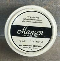 EMPTY Vintage Advertising Tin MANSON FRICTION TAPE Okonite Co PASSAIC NEW JERSEY