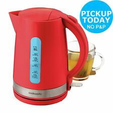CookWorks 3kW 1.7L Cordless Illumination Jug Kettle - Red.