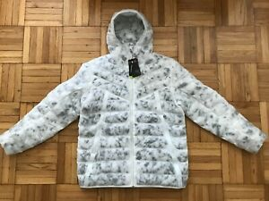 Large-Tall LT Mens Nike Sportswear Thermore Down Marble Jacket White CU7712-100
