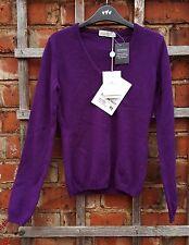 BNWT Della Ciana Women's Purple 100% Cashmere Jumper (Size 40EUR; 30UK) RRP £291
