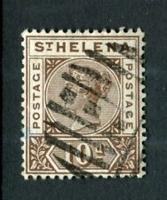 St Helena 1890 QV. 10d brown. Used. SG 52.