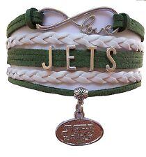 New York Jets Football Infinity Bracelet Jewelry Apparel