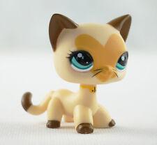 Littlest Pet Shop LPS Toys #3573 kitty Tan Brown Heart Face Short Hair Cat Cat