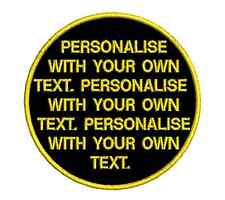 Custom 9cm Felt Embroidered Personalised Patch Your Text Design Your Patch Plain