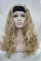 D94 Synthetic Gold Women Lady Long Curly Hair Wig Natural Full Wig Cospaly M