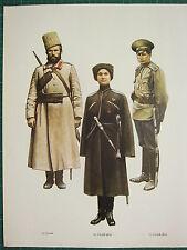 VINTAGE WW1 WWI PRINT RUSSIA COSSACK 5th DON CAVALRY OJAROVSKI LIFE GUARD