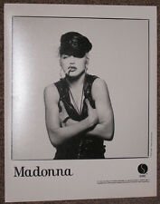 "Madonna Original 1990 Sire 8"" x 10"" Promo Only Photo Leather Biker Gay Icon"