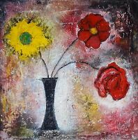 """NEW ISABELLE AMANTE ORIGINAL """"Say It With Flowers II""""  Still Life PAINTING"""