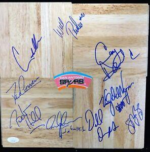 San Antonio Spurs 1995-96 Team Signed 12x12 Floorboard JSA Authenticated