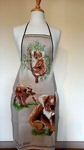 Australia Koala Souvenir Linen / Cotton Apron NEW Great gift ideaVintage Design