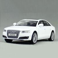 1:32 Audi A8 Die Cast Modellauto Auto Spielzeug Model Sammlung Pull Back Weiß