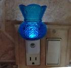 Medium Blue Button Pattern Toothpick Holder Custom Night Light With LED & Sensor