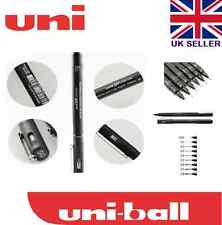 6 x UNI PIN DRAWING PEN PIGMENT LINER SET BLACK 0.1mm to 0.8mm CHEAP SET
