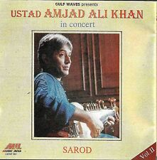 USTAD AMJAD ALI KHAN - SAROD IS CONCERT - NEW SOUND TRACK CD - FREE UK POST
