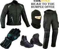 Proviz Conjunto Hombre Ce Moto Chaqueta de la Motocicleta Pantalones Fundas