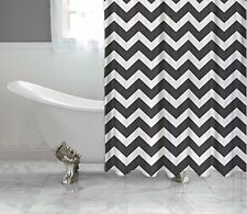 Black and White Chevron Shower Curtain FREE SHIPPING!