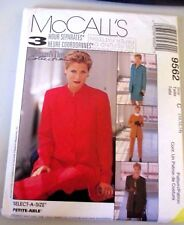 McCALL'S SEWING PATTERN NO. 9562 LADIES SUIT & PANTS SIZE 10,12,14 NEW