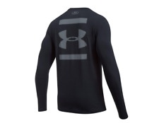 Under Armour Men's UA Back Graphic Long Sleeve Running Shirt (Black) NWT
