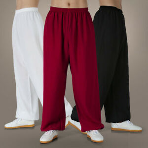Linen Martial Arts Trousers Pants Kung Fu Tai Chi Trousers Wushu Loose Bloomers