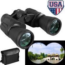 10X50 Outdoor Waterproof Day Night Hiking Hunting 10KM Wide Angle Binoculars US