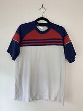 De Colección Adidas 3 Rayas Rojo Blanco Azul Camiseta Camiseta Tamaño S/M