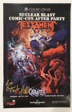 SDCC 2018 EXCL NUCLEAR BLAST TESTAMENT signed poster by Tom Gilliland READ POST!