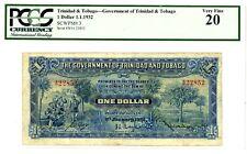 Trinidad And Tobago … P-3 … 1 Dollars … 1932 … *VF*  PCGS 20 (VF).