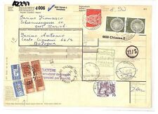 AZ297 1981 Switzerland HIGH VALUES Zurich *Insured Mail* Card Italy PTS