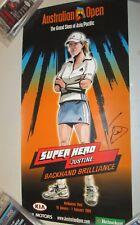 Justine Henin (Belgium) signed 2004 Australian Open official poster + COA (#419)