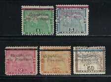 Panama 1903-4 Sc#129//37  Stamps of Columbia 1892-6 Overprinted  MH/Partial/NG